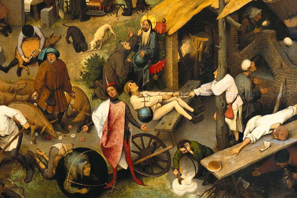 Cuadro los proverbios de Pieter Brueghel.