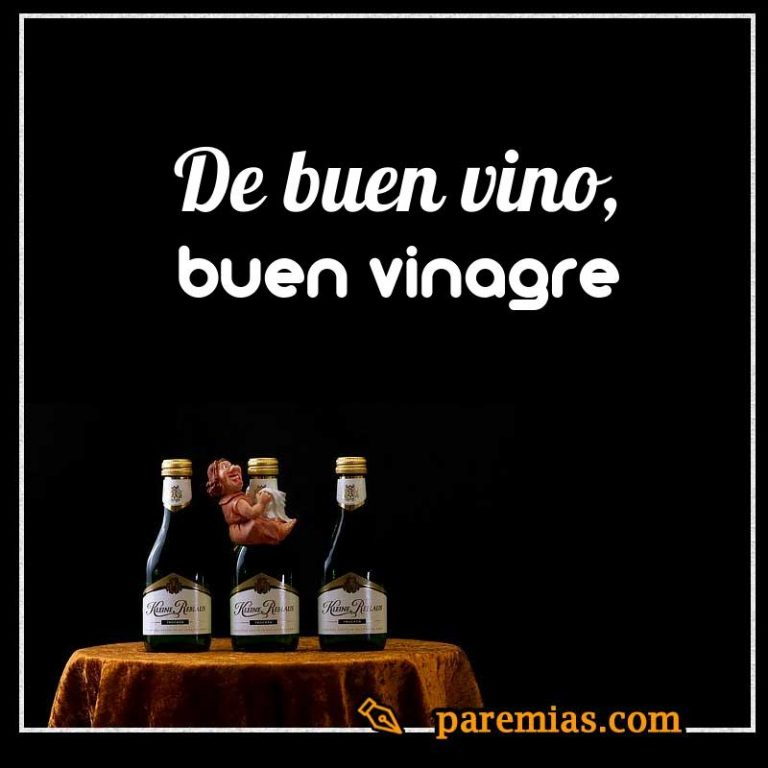 De buen vino, buen vinagre