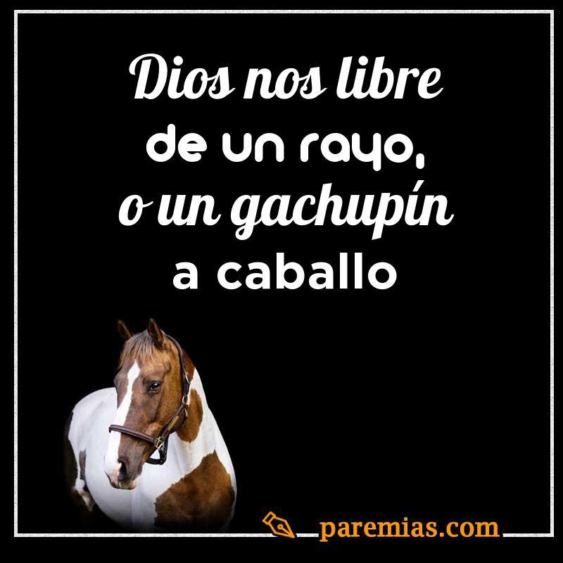 Dios nos libre de un rayo, o un gachupín a caballo