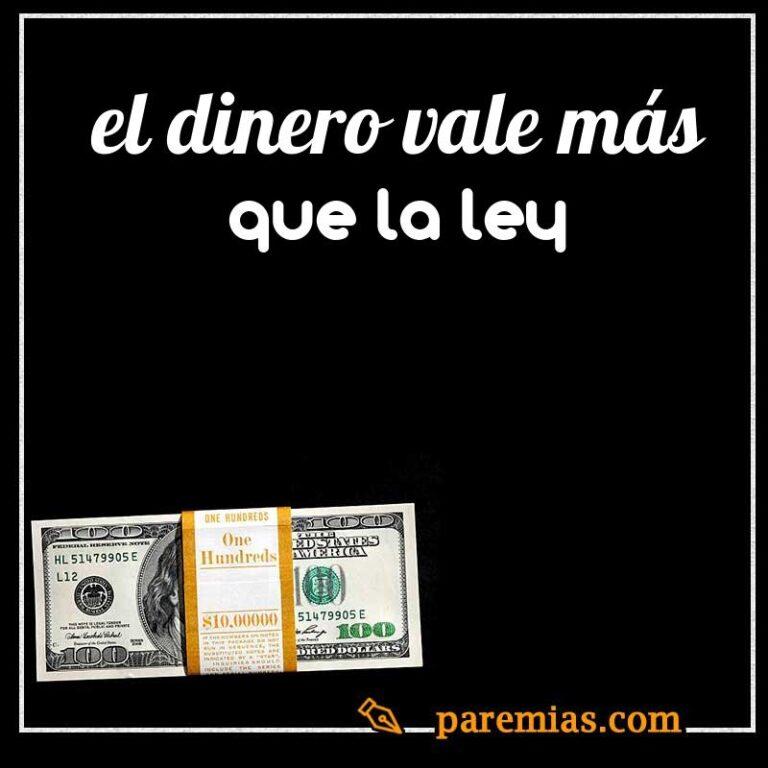 El dinero vale más que la ley