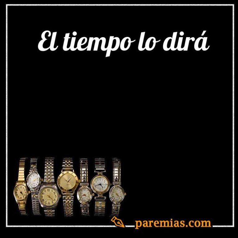 El tiempo lo dirá