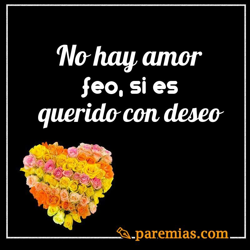 No hay amor feo, si es querido con deseo