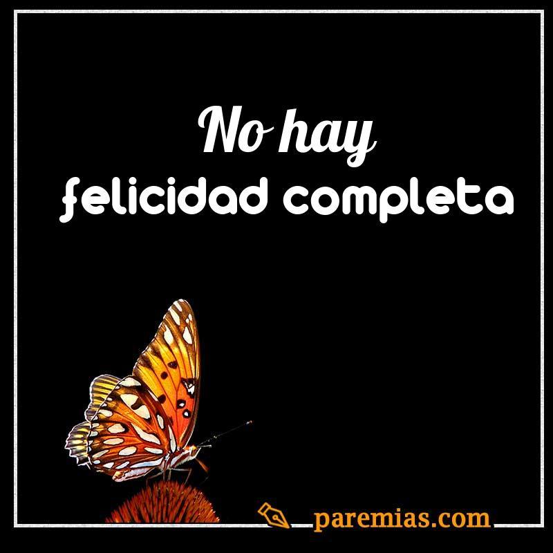 No hay felicidad completa